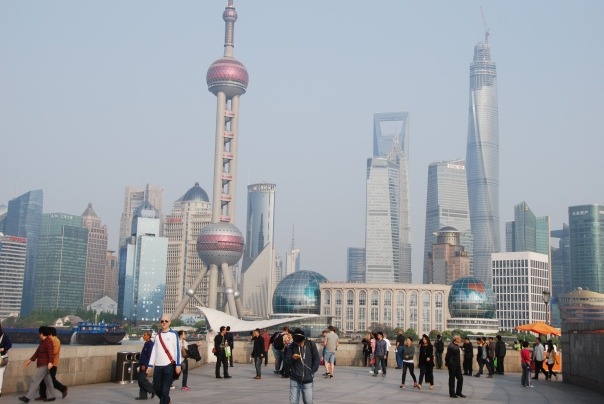 "From the promenade of The Bund - considered Shanghai's ""premier attraction.""  ( Photo by Robyn Bushong"