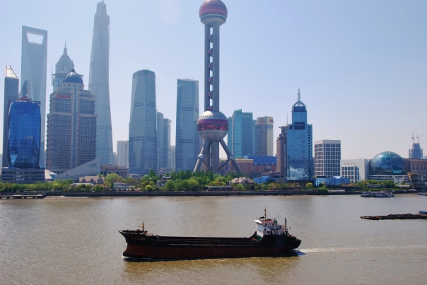 We have just docked in Shanghai... the largest city in the world!  (photo by Robyn Bushong.)
