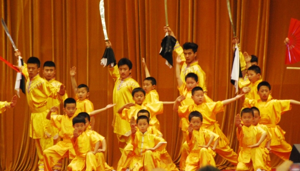 Just one of many exciting performances at The Great Hall of the People - just for our Crystal Cruises group.  (Photo by Robyn Bushong.)