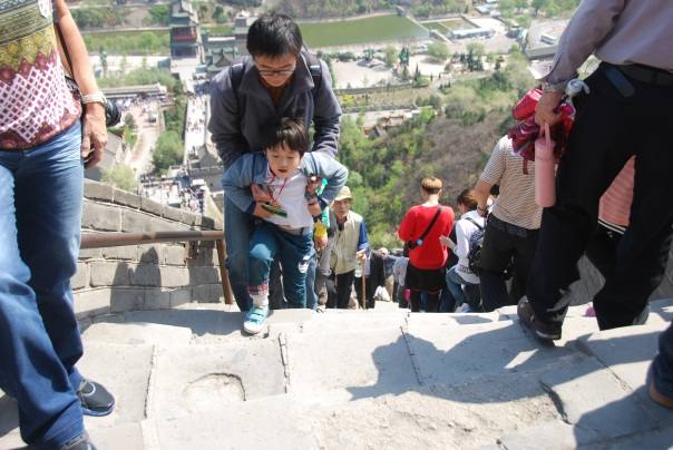 Young and old... everyone wanted to make it to the top of The Great Wall. (Photo by Robyn Bushong.)