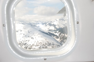 Juneau Ice Field from our float plane window.