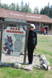Taku Glacier Lodge and the warning about the bears!