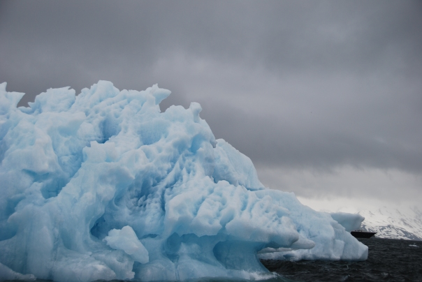 Just one of the many stunning ice formations we passed through enroute to the Polar Ice Cap. (Photo by Robyn Bushong.)