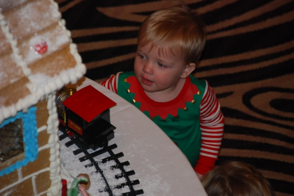 Children of all ages enjoyed the special Christmas festivities.